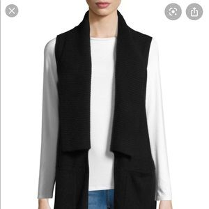 Saks Fifth Avenue Cashmere Ribbed Tunic Vest